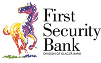 First Security Bank multicolored horse logo - Division of Glacier Bank