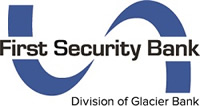 First Security Bank - Division of Glacier Bank ribbon logo